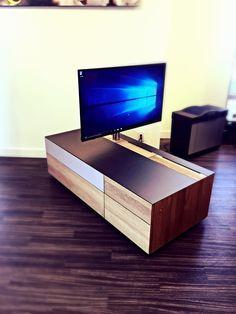 team7 cubus tv unit solid wood glass oak custom