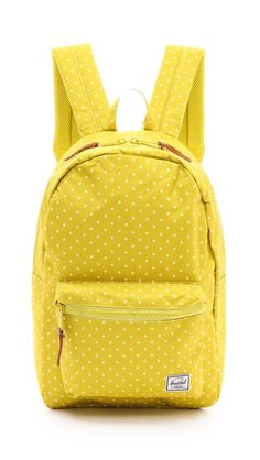 ed6e1c31802 Go to class in style with this yellow polka dot backpack. Your Everpurse  will fit