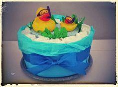 Duck Diaper Cake /Torta Di Pannolini Paperelle