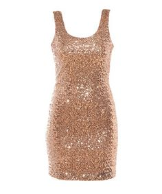 Gold (Gold) Gold Sequin Bodycon Vest Dress | 261379393 | New Look