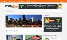 WebMag Blogger Template é um template blogger para blog de tecnologia e etc. Com layout simples, WebMag tem 2 colunas, 1 sidebar direita, 3 colunas de rodapé, menu principal flutuante, slide de conteúdo em destaque, ícones de compartilhamento social, perfil do autor abaixo de cada post, locais para posicionar anúncios e muito mais. Blogger Templates, Layout, Blogger Themes, How To Find Out, Menu Principal, Free, Portal, 1, Columns