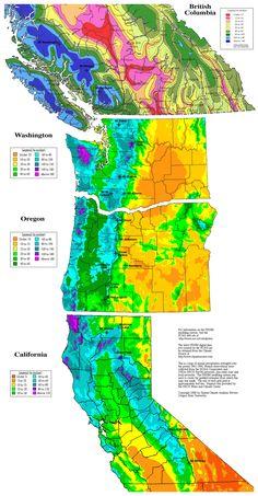 Annual Precipitation along the Cascade Range