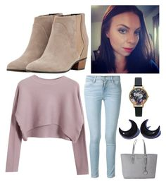 """""""Comfy Casual"""" by melisser28 on Polyvore featuring Chicnova Fashion, Frame Denim, Augusta, Michael Kors and Olivia Burton"""