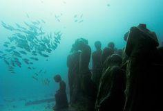 MUSA: Le MUsée d'Art Subaquatique de Cancún.