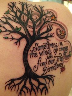 A beautiful tattoo with a lot of meaning to me :-)