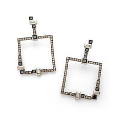 Par de brincos de Ouro Nobre 18K com diamantes negros, cognac e brancos http://m.hstern.com.br/joia/brinco/roberto-burle-marx/B1B197462