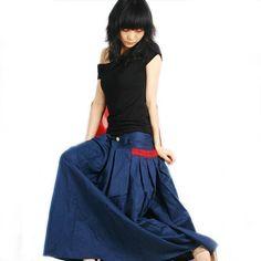 Less is more silky linen Long Skirt Q1001 por idea2lifestyle