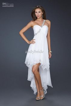 Wholesale 20% Discount Off Twinkle Girl Prom Bridemaid Dresses One Shoulder High Low Party Evening Dress, Free shipping, $58.24-73.08/Piece   DHgate