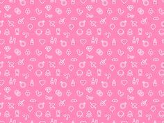 Pink Wedding Pattern by @JustasDesign. More patterns in Shot Block: Pattern https://dribbble.com/stories/2015/07/16/wmc…