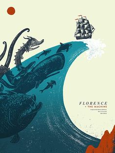 Florence + The Machine gig poster by Andrew Saeger