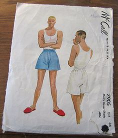 McCall's men's boxer pattern from 1949