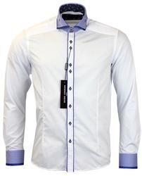 Stripe Double Collar GUIDE LONDON 60s Mod Shirt W