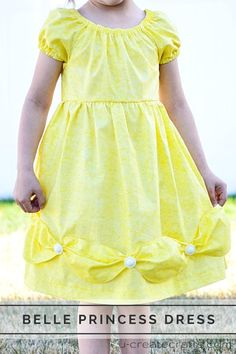Belle Princess Peasant Dress at u-createcrafts.com