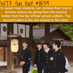 How some Japanese students confess their love - WTF fun facts