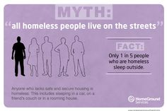 not all homeless people live on the street, but the ones who do need a path into housing NOW! The answer is Housing First.