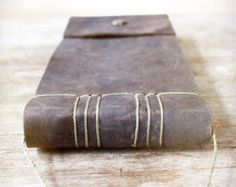 Leather Bound Journal, The Ledger, Hand Stitched, Japanese Stab Binding, Nature
