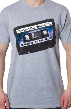 Awesome Mix Volume 1 Guardians of the Galaxy T-Shirt: Star Lord Tape