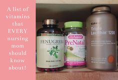 Nursing Mom Should Know About These Helpful Vitamins!