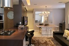 20 Cozinhas Integradas às Salas! Veja dicas e tendências de decoração!
