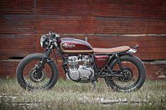 Crimson Brat  1977 CB550F built by Smyth Innovations