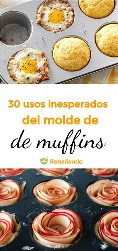 Echa un vistazo a estas Ideas fáciles y fuera de lo común para sacarle el máximo provecho a tu molde de muffins Ideas Fáciles, Empanadas, Baking Recipes, Cooking, Breakfast, Sweet, Gordon Ramsay, Buffets, Chocolates