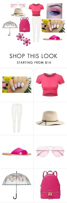 """""""HAPPY SPRING YALL"""" by spookyghoul-cciii ❤ liked on Polyvore featuring beauty, Sugarpill, LE3NO, River Island, Brixton, Ancient Greek Sandals, Oliver Peoples, Vera Bradley, Michael Kors and Kate Spade"""