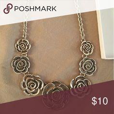 Silver flower necklace Silver flower necklace Jewelry Necklaces