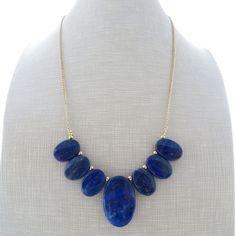 Collana con lapislazzuli blu, gioielli con pietre dure, bijoux fatti a mano