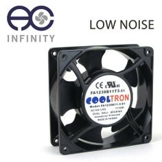 115V AC Cooling Fan. 120mm x 38mm LS by AC Infinity. $16.99. Overview The low speed 120 by 120 by 38 millimeter 115V AC axial fan is housed in die cast aluminum with thermoplastic blades. Containing long life dual ball bearings, the fan can run continuously for 67,000 hours and be mounted in any direction. Has terminal connectors and can be plugged into a standard outlet with a fan power cord, sold separately. Cooltron fans are certified by CE, UL, TUV, and RoH...