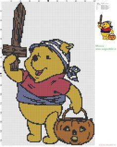 Winnie the Pooh pirata patron punto de cruz (click to view)