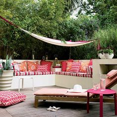 50 Small Urban Garden Design Ideas And Pictures Shelterness Patio Interior, Home Interior, Interior Design, Orange Interior, Outdoor Rooms, Outdoor Living, Outdoor Decor, Outdoor Furniture, Outdoor Fabric
