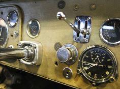 dashboard of a 1937 Bugatti Type 57S Atalante Coupe