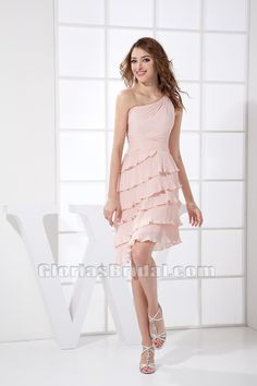 Light Pink College Chiffon Short Petite Sweetheart Graduation ...