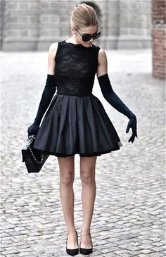 Little black dress.... Very Audrey Hepburn