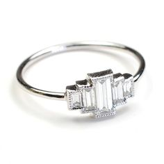 This Art Deco-inspired ring is beyond beautiful. - Click image to find more Women's Fashion Pinterest pins