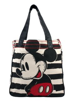 Mickey Black Stripe Sketch Tote - View All - Bags Disney Handbags, Disney Purse, Mickey Mouse And Friends, Disney Mickey Mouse, Disney Brands, Disney Outfits, Disney Clothes, Disney Fashion, Cute Bags
