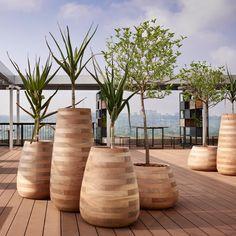 I'm a sucker for this striking photo Decorative Planters, Large Planters, Planter Pots, Reinforced Concrete, Concrete Planters, Boat Building, Shenzhen, Flower Pots, Hardwood Floors