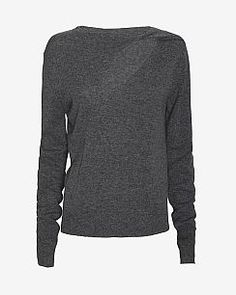 A.L.C. Robinson Cut Out Neckline Sweater
