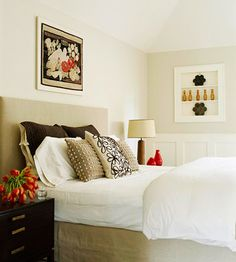 want the pillows, headboard, and wilted tulips