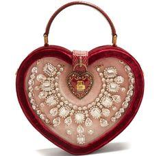 Dolce & Gabbana, Dolce And Gabbana Handbags, Sacs Design, Beautiful Handbags, Cute Bags, Luxury Bags, Fashion Bags, Kardashian, Heart Shapes