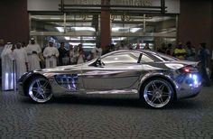 One of World Most Expensive Car-white Gold Mercedes Benz