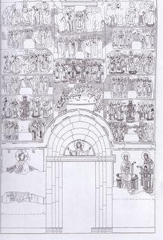 Nartece interno. disegno degli affreschi sulla parete orientale. Oriental, Dubrovnik, Byzantine, City Photo, Art, Western World, Art Background, Kunst, Performing Arts