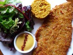 Chicken Schnitzel with Saffron Aioli from CookingChannelTV.com