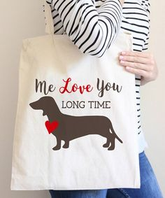 Month 2 Month Baby Full Metal Dachshund Tote Bag | zulily