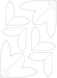 3d flower template - Google Search