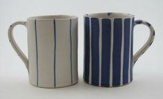 Sue Binns, tall mugs, via The Scottish Gallery.