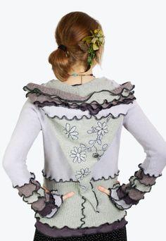 Lila Fee hOOdie  Floral Strickjacke Tunika  klein von Fairytea