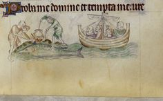 Whale in the Queen Mary Psalter. Of interest perhaps more than the whale is the tripod cooking pot.