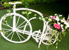 Bicicleta, Rosa, petalos, flor, hojas, bicicle, Rose, petals, flower, leaves