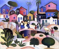 Tarsila do Amaral - Shantytown Hill, 1924, oil on canvas.